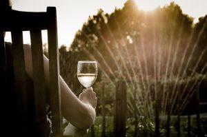 Pri automatickom zavlažovaní si môžete posedieť s pohárom vínka.