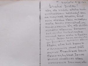 Originál životopisu starkého písaný jeho rukou